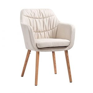 XJLG Sessel Stühle Bürostuhl Kaffeestuhl Europäische Esszimmerstühle aus massivem Holz, Home-Studie Stuhl lässig Kaffee Stuhl zurück Schreibtischstuhl Hocker (Color : White)