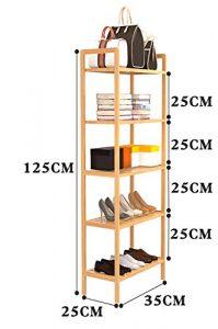 Xiejia Schuhständer Nanzhu Schuhschrank Mehrstöckige einfache Schuhständer Schlafsaal Badezimmer Regal Mini Finishing Rahmen (Farbe : C, größe : 35cm)