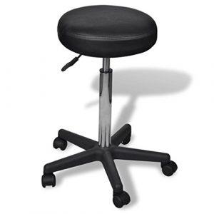 cangzhoushopping Rollhocker höhenverstellbar Schwarz Möbel Büromöbel Büro- Schreibtischstühle