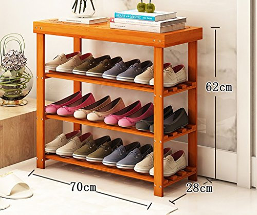 Schuhständer Nanzhu Haus Schuhschrank einfache Montage moderne Lagerung Racks multifunktionale Bambus Regale ( Farbe : B , größe : 70cm )