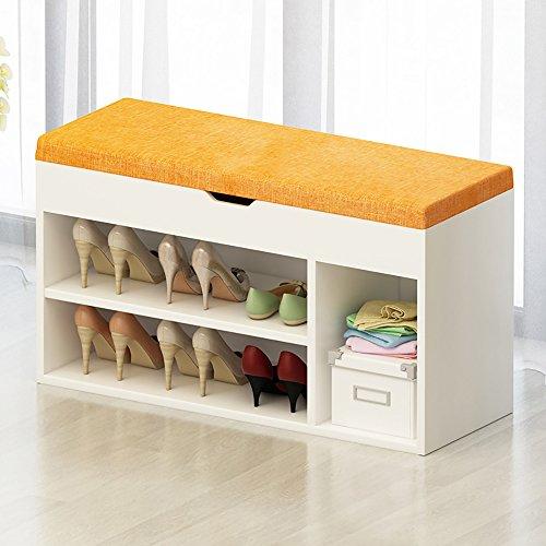 GYH Klappstuhl LJHA Massivholz Fußhocker/Tuch Eingang Schuhhocker/Schuhschrank/Lagerung Sofa Hocker/Schuhschrank (7 Farben optional) Stühle (Farbe : B, größe : 80cm)