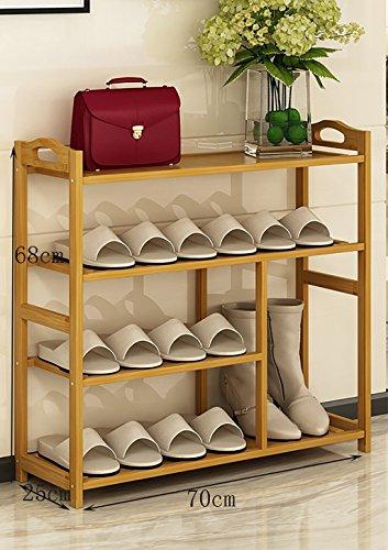 Schuhständer Nanzhu Home Stiefel Schuhschrank Montage moderne Lagerung Racks multifunktionale Bambus Regale ( Farbe : A , größe : 70cm )