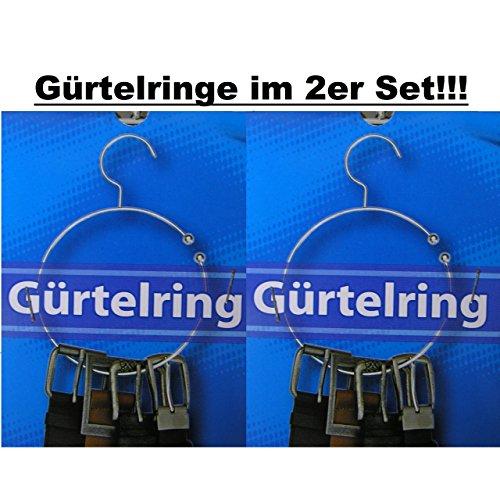 2x Gürtelringe Gürtelhalter Schalring Kravattenbügel Bügel Schalhalter silber