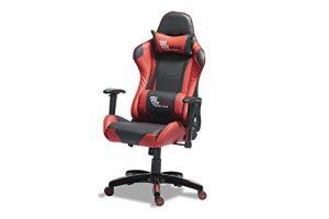 PKLine Bürostuhl WILD in rot/schwarz Gamerstuhl Racing Schreibtischstuhl