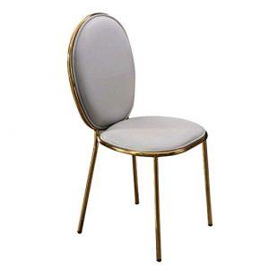 SUNLIJINYI Schmiedeeisen Esszimmerstuhl Hohe Qualität Licht Modernen Stuhl Einfache Hochzeitssitzung Rückenlehne Schreibtisch Stuhl Nordic Bankett Hotel Stuhl Hause Kreative