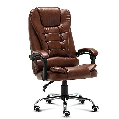 Stool Bürocomputerstuhl, Chefstuhl, ergonomischer Bürostuhl, Freizeitsitz (Farbe : Brown)