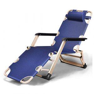Schreibtischstuhl Lehnstuhl Büro Klappbar Bett Garten Draussen Terrasse Sonne Liegen Kann 240Kg Aushalten,Blau