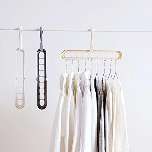 Hergon Kleiderbügel mit 9 Löchern, Kunststoff, für Kleiderschrank, Kleiderschrank, Kleiderschrank, Kleiderhaken.