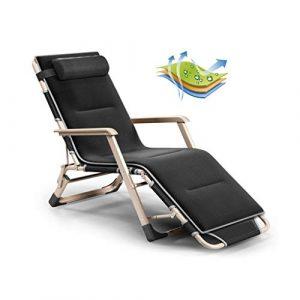Sgxpjj Schreibtischstühle Klappstuhl Sonnenliege Patio Chair Schwerelosigkeitsstühle Ergonomisch Liegestuhl Lounge-Sessel Atmungsaktiv (Color : Black)