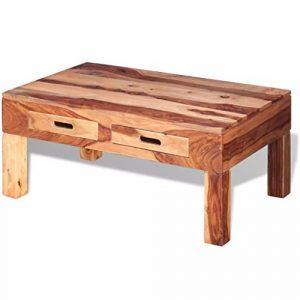 XINGLIEU Couchtisch Stabiler Sheesham Holz Wohnzimmer Möbel