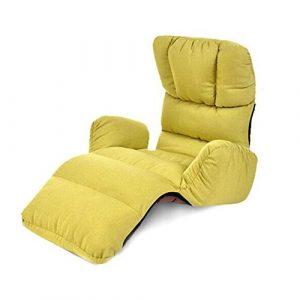 Hocker XUERUI Klappstühle Bürostuhl Boden Stuhl Sofa-Liege Einstellbar Faltbar Liegender Yoga Meditationssitz Rückenstütze Dauerhaft Stark Möbel Stühle (Color : Green)