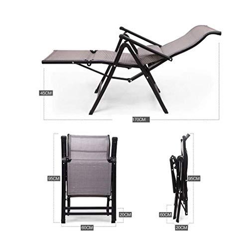 RMJAI Stühle Multifunktionsliege Liegestuhl for die Mittagspause, Siesta-Bett, Trageriemen-Picknickstuhl, Bürostuhl mit Außenliege, Schwerkraftstühle - for Liegestühle am Strand Klappstuhl
