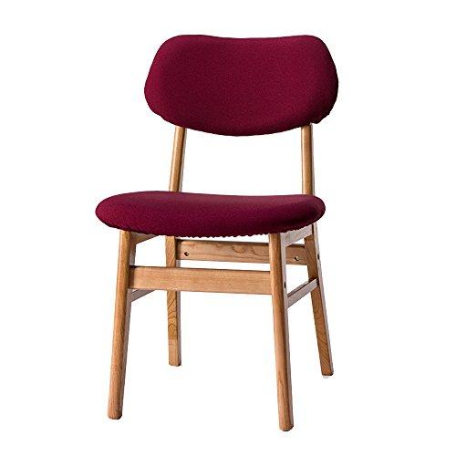 LHA Seat Home Chair Hotel Esstisch und Stuhl Waschbar Stuhl Massivholz Stuhl Moderne minimalistische Schreibtisch Stuhl Restaurant (Farbe : Red Brown Dark red pear Pattern)
