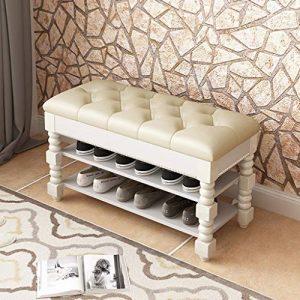 Haushalt Massivholz Schuhe Bank, Einfache Schuhschrank An Der Tür, Multifunktionsspeicher Sofa Bank FKYGDQ (Size : 60×41.5cm)