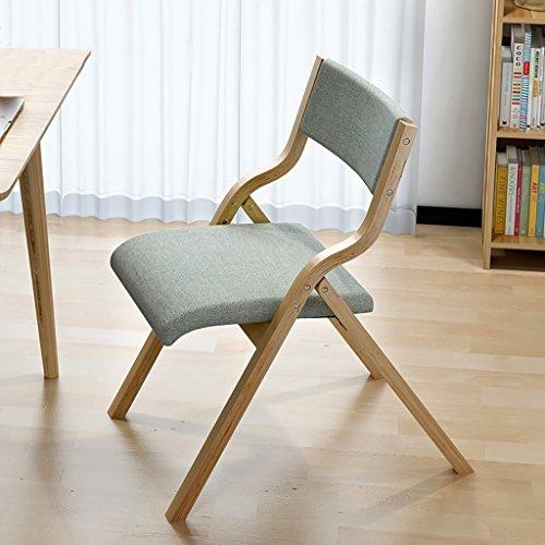 YXWzdy faltstuhl Tuch Traversen Klappstuhl Lässig Stuhl Home Einfache Nordic Dining Chair Erwachsene Schreibtisch Stuhl Restaurant Rückenlehne Stuhl holzklappstuhl