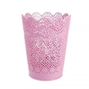 Laat Kunststoff Tischlltonne Schreibtisch Papier Schmutz Aufbewahrung Papierkorb Tisch lleimer Mini ohne Deckel plastik rose 17.8*14*10.3 …