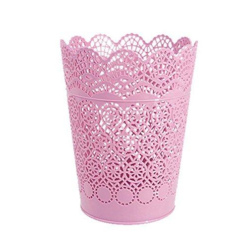 Laat Kunststoff Tischlltonne Schreibtisch Papier Schmutz Aufbewahrung Papierkorb Tisch lleimer Mini ohne Deckel plastik rose 17.8*14*10.3 ...