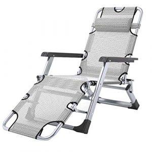 Deckchairs Sonnenliege Liegestuhl Gartenstuhl Klappbett Bürostuhl Tragbares Feldbett Tragbar Für 200 Kg (Color : Gray, Size : 52 * 89cm)