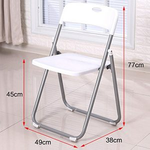 Stühle Xiaolin Klappstuhl Home Chair Bürostuhl Kunststoffstuhl Schreibtischstuhl Konferenzstuhl Gartenstuhl (Farbe : Weiß)