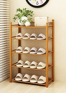 Xiejia Bambus Schuh-Rack Multilayer Haushalt Schuh Schrank Ökonomische Schlafsaal Regal montieren Bamboo Schlafsaal Schuh Regal (größe : 50 cm)