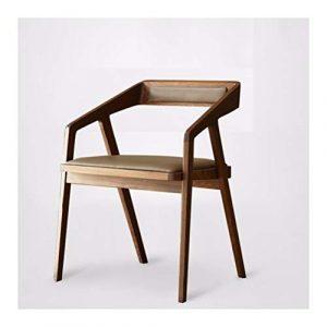 WYQSZ Einfache Nordic Massivholz Stuhl, Heimcomputer Stuhl Rückenlehne Stuhl Armlehne Holz Konferenzstuhl, Casual Bürostuhl, 20.47in